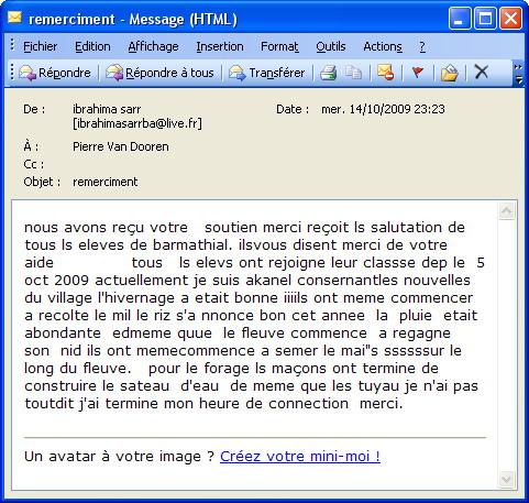 mail Ibrahima Sarr